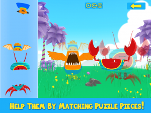 Monsters Assemble 3D - Help Them By Matching Puzzle Pieces!