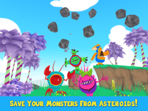 Monsters Assemble 3D - Save Your Monsters From Asteroids!